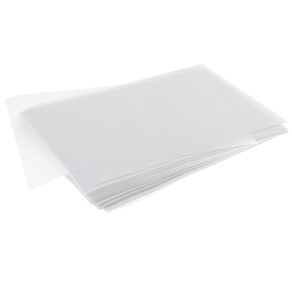 Dovewill 200 Pieces 15x10cm 63gsm Vellum Translucent Tracing Paper Stencil for Drawing Cardmaking White