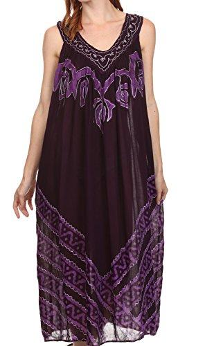 Cotton Batik Caftan Dress - 4