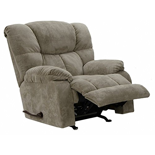 Catnapper Popson Chaise Rocker Recliner in Taupe (Taupe Recliner Rocker)