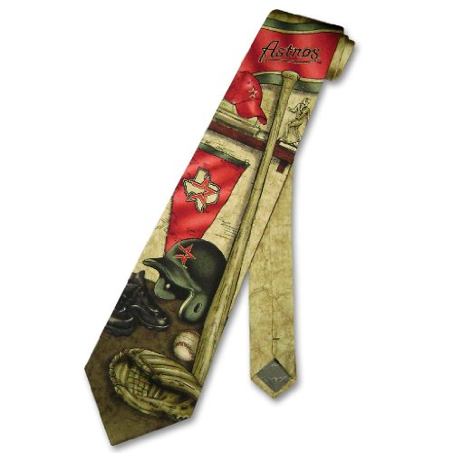 HOUSTON ASTROS SILK NeckTie MLB Baseball Men's NOSTALGIA Neck Tie
