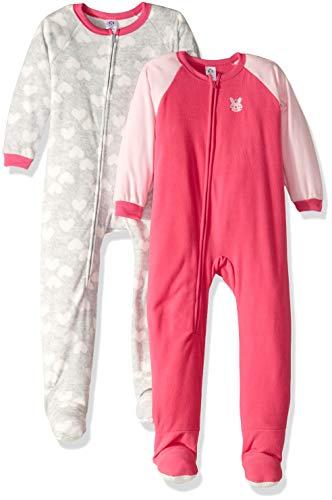 - Gerber Girls' 2-Pack Blanket Sleeper, Bunny, 5T
