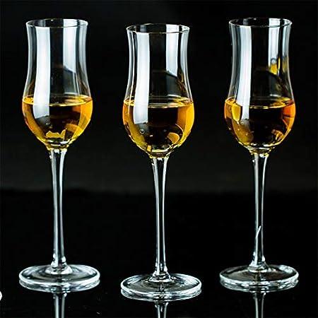 HNGM Vaso de Whisky Sommelier's Solt Malt Whisky degustación de Vidrio Scotch Golan Whisky Nasal Feeding Glass Brandy Whisky Tulip Goblet con Tapa (Capacity : 170ml, Color : 2 Pcs Glass)