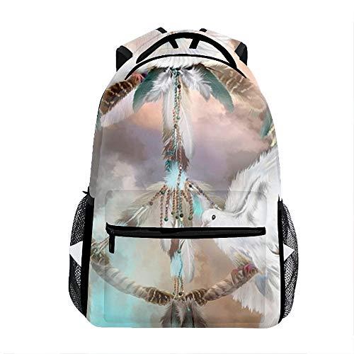 Laptop Backpacks Peace Envoy Girls Women Travel Daypack ()