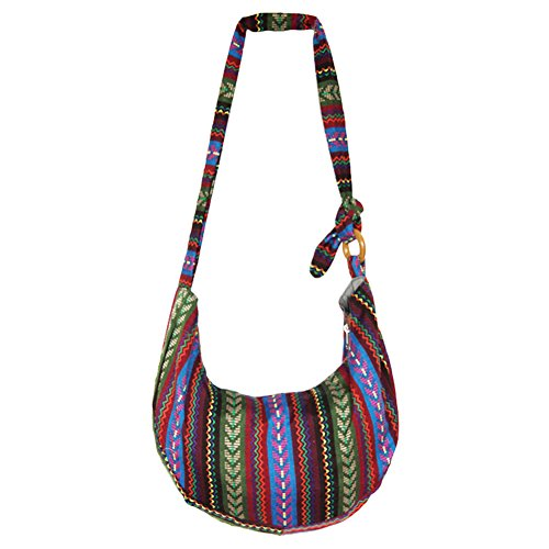 Funbase Adjustable Floral 5 Sling Crossbody Hippie Bohemian Bag Messenger Hobo Bp4rBF