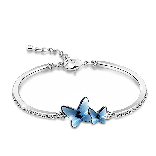 Butterfly Bangle Bracelet, Valentine's Day Gift T400 Jewelers
