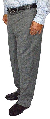 Kirkland Signature Men's Wool Gabardine Flat Front Dress Slack Pant, Light Grey, Size 36x30 -