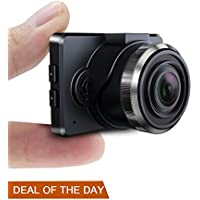 Dash Cam Conbrov T17 1.5' LCD HD 1080P Car Dashboard Camera Recorder with G-sensor, Loop Recording and Night Vision for Cars, SD Card Not Included