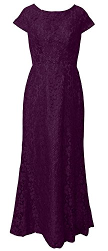 VaniaDress Women Short Sleeve Lace Long Prom Dress Evening Gown V210LF Plum US12 from VaniaDress