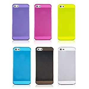 xiao Joyland Solid Color Transparent TPU Soft Back Case for iPhone 5/5S(Assorted Color) , Blue