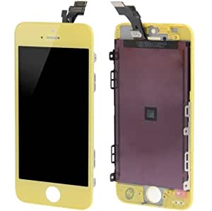 3 en 1 (New High Qualiay LCD Touch Pad, LCD) Digitizer Frame Assembly for (Yellow) iPhone 4