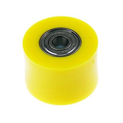 KSX Kettenrolle 38mm aus hochfesten Polyamid mit Zwei Kugellagern Gelb