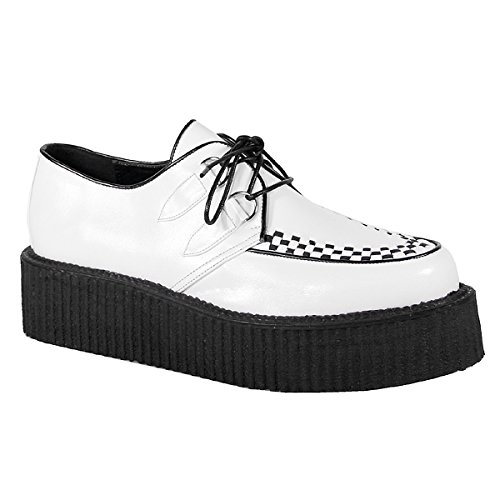 Pleaser Men's V-Creeper-502 Veggie Creeper,White,4 M - Pleaser Lace Oxfords
