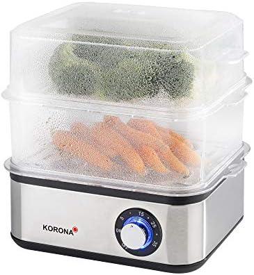 Korona 25303 Mini cuiseur Vapeur et cuiseur à œufs en Acier Inoxydable pour légumes – Cuisinière Professionnelle jusqu'à 16 œufs