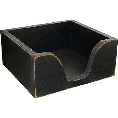 Primitive Wood Napkin Holder - Black