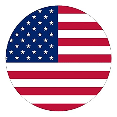 1-Pc Perfect Popular American Flag Vinyl Sticker Signs Old Glory Stick Patriotic Decal Window Helmet Size 2