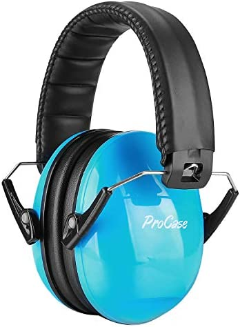 ProCase Kids Noise Cancelling Safety Ear Muffs Headphone, Hearing Protection Headset Noise Reduction Earmuffs Ear Defenders for Babies Toddlers Children –Blue