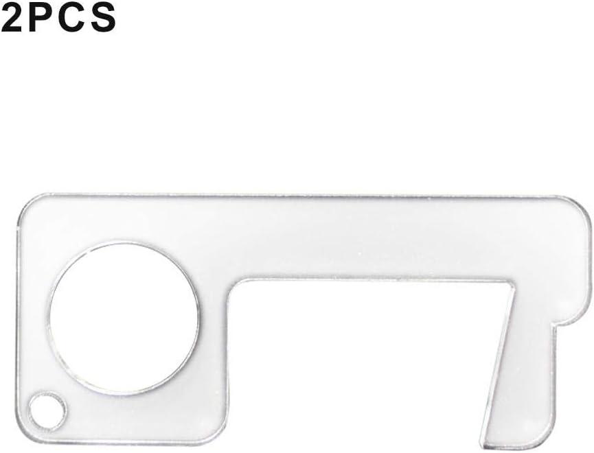 Bettying antimicrobico 2 pezzi Apriporta portatile in acrilico