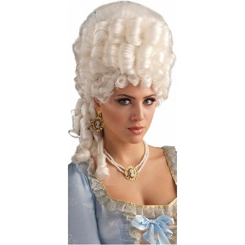 Marie Antoinette Halloween (Forum Novelties Women's Marie Antoinette Wig Adult Costume Accessory, Platinum Blonde, One Size)