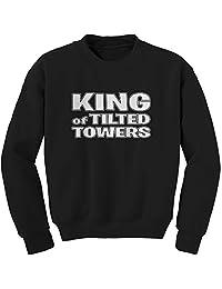 FerociTees King of Tilted Towers Fortnight Fort Ignite Game Crewneck Sweatshirt