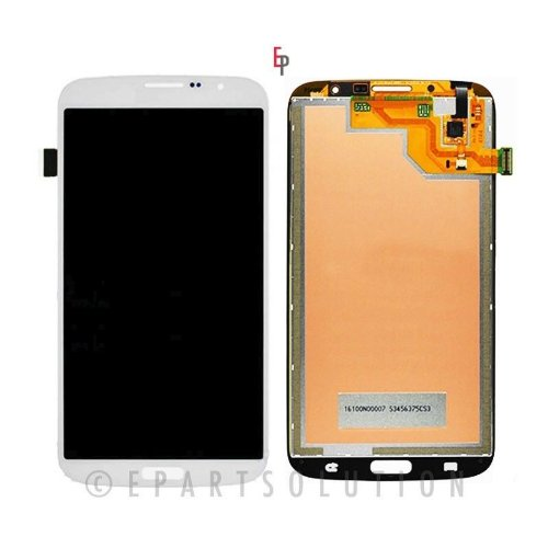 ePartSolution-Samsung Galaxy Mega 6.3 i527 i9200 i9205 LCD Touch Screen Digitizer Assembly White Replacement Part USA Seller