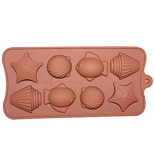 Sea Shell and Fish Chocolate Candy and Fondant Mold