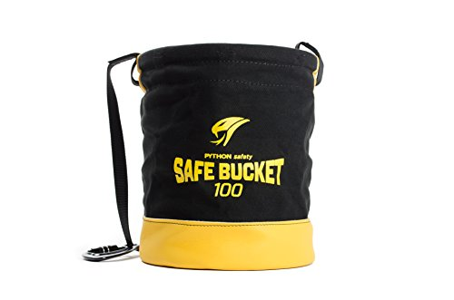 3M DBI-SALA Fall Protection For Tools,1500133, Canvas Spill Control Safe Bucket w/6 D-Ring Connection Points, 15