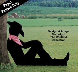 Lazy Cowboy Shadow Woodcraft Pattern