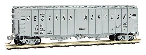 Micro-Trains MTL N-Scale 50ft Airslide Covered Hopper Western Maryland/WM #5565