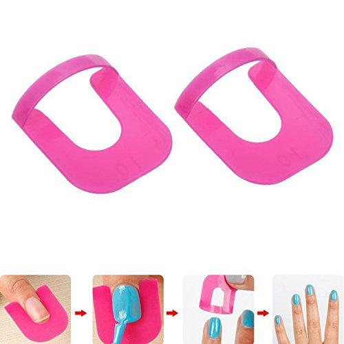 Honearn 52pcs/set Nail Polish Stencil Toe Separators Varnish Protector Holder Finger Nail Art Design Tips Cover Shield Manicure Tools