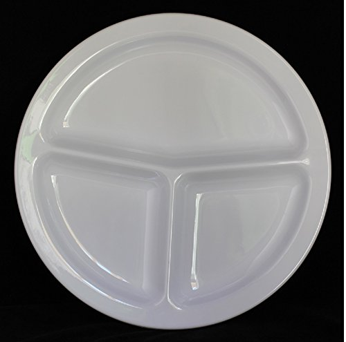 Z-Moments Western Melamine 2611 3-Compartment Round Plate 11-3/4