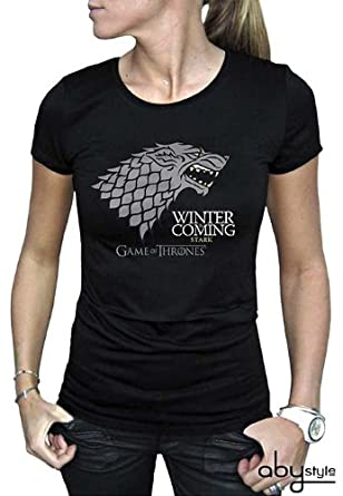 / Nero / Stark/  / Tee Shirt Donna Game of Thrones/  Game of Thrones/