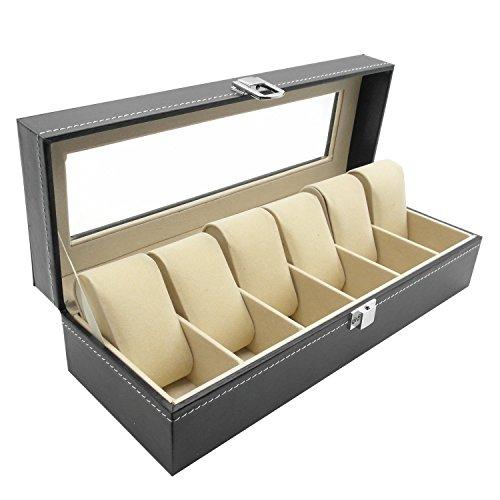 InnoLife 6 Compartment Leather Bracelet Organizer