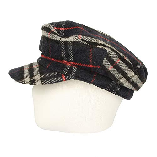 91c36ee92a7 WITHMOONS Newsboy Hat Tartan Check Pattern British Beret Cap ACG1096 (Beige)  at Amazon Women s Clothing store