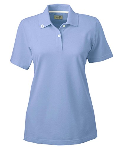 Ashworth 1148 Ladies EZ-Tech Piqu? Polo-Short Sleeves T-Shirt-XX-Large-Blue