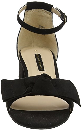130 Femme Dorothy Shelly black Sandales Noir Perkins Bout Ouvert XaTq8aw