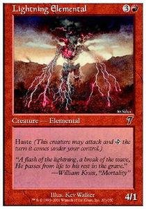 Magic: the Gathering - Lightning Elemental - Seventh Edition