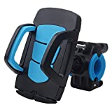 Bike Mount Bicycle Holder, Simpra Universal Bicycle Motorcycle Handlebar Mount Holder for iOS Android Smartphone GPS other Devices, with One-button Released, 360 Degrees Rotatable, Rubber Strap (Blue)