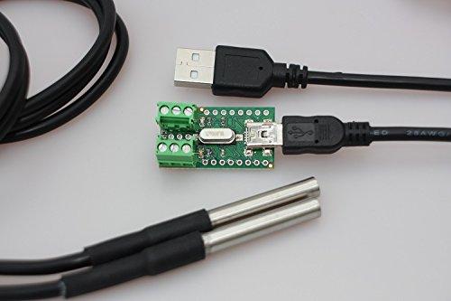 In ZIYUN Waterproof DS18B20 Sensor Kit,Temperature Sensor,Humidity Sensor,Waterproof DS18B20 Digital Temperature Sensor for Arduino,Terminal Sensor Adapter