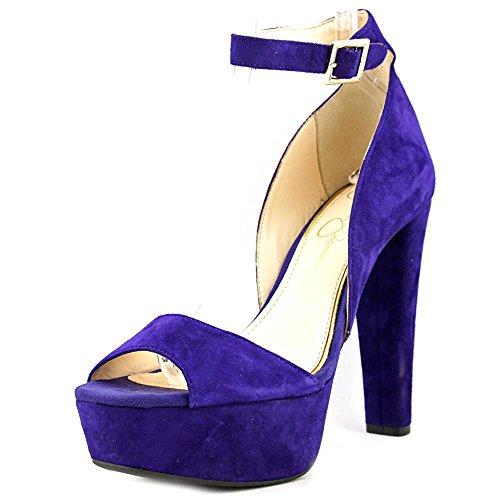 Jessica Simpson Women's Athens Platform Pump, Deep Purple, 9 M US - Ankle Strap Clog