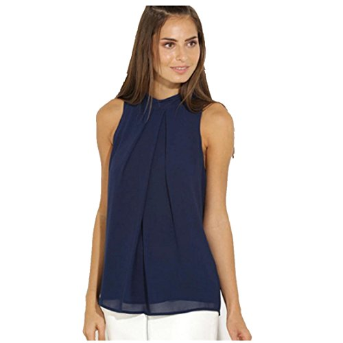 Blouses,Toraway Women Chiffon Sleeveless Shirt Summer Blouse Tops