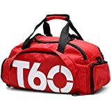 HDH Polyester Duffle Bag For Women,Red - Sport & Outdoor Duffle Bags
