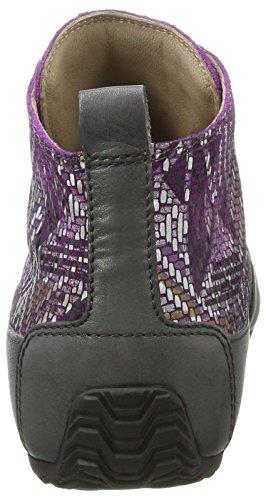 Candice Cooper Ladies Roma High Sneaker Multicolore (bordo)