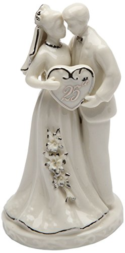 Cosmos Gifts 30716 Ceramic 25th Anniversary Couple Figurine, 4-3/4-Inch