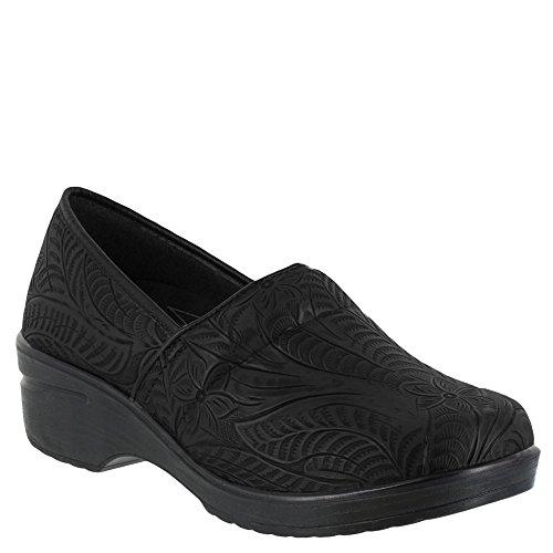 - Easy Works Women's LYNDEE Health Care Professional Shoe, Black Emboss, 10 M US