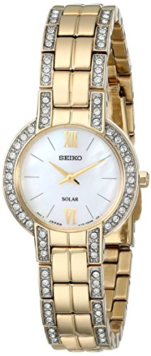 Seiko Women's SUP200 Dress Solar Modern Crystals Japanese Quartz Watch