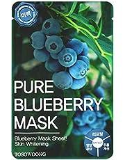 [Tosowoong] Masksheet 10Pcs/Mask Pack/Essence Facial Mask/Mask Sheet/Aloe/Blueberry/Green Tea/Snail/Deep Sea Water/Propolis (Blueberry)