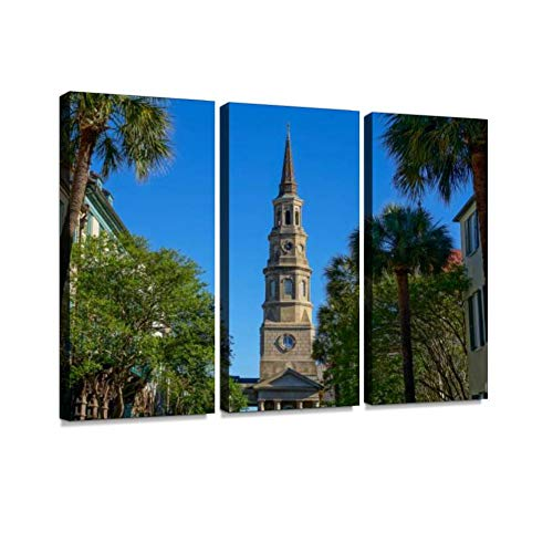 Church Street in Downtown Charleston South Carolina Print On Canvas Wall Artwork Modern Photography Home Decor Unique Pattern Stretched and Framed 3 ()