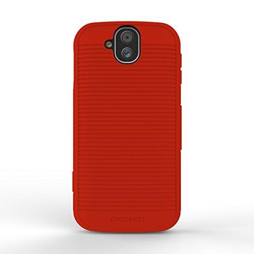 (Wireless ProTECH Flex Skin Gel Case compatible with Kyocera DuraForce PRO E6800 Series E6810 E6820 E6830  (Red))