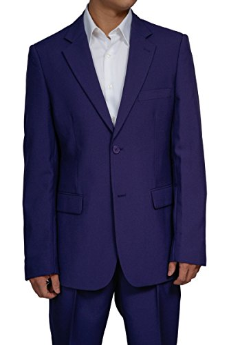 Mens 2 Button Purple Dress Suit New (52L)