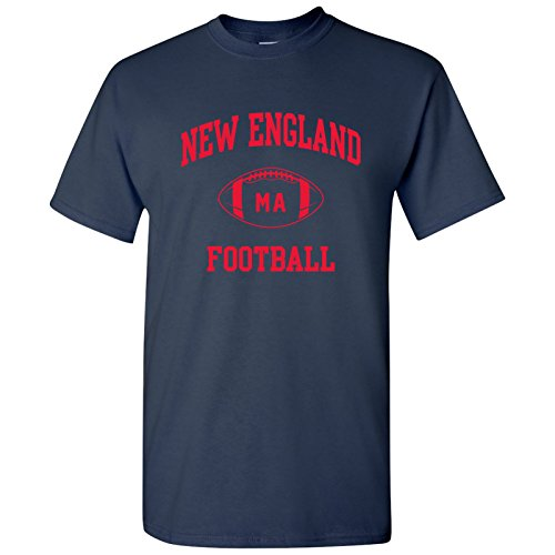 New England Classic Football Arch Basic Cotton T-Shirt - 3X-Large - Navy